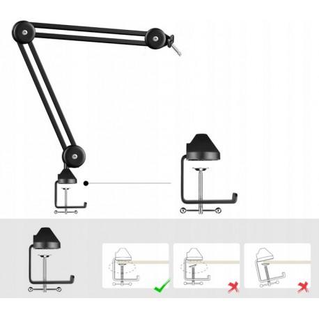 MOZOS CLAMPMIC zacisk biurkowy do statywu