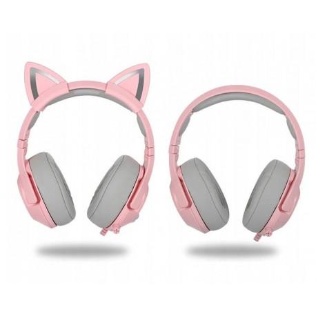 ONIKUMA K9 słuchawki z mikrofonem różowe