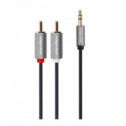 Kruger&Matz KM1218 kabel 1 x mini jack - 2 RCA 1 metr