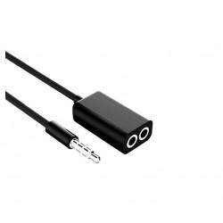 SK1 adapter 1 x mini jack - 2 x mini jack żeński stereo 18 cm