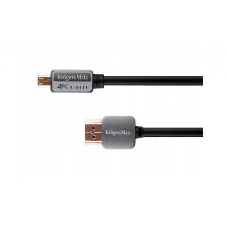 KRUGER&MATZ kabel HDMI - micro HDMI wtyk-wtyk (A-D) 3m