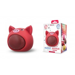 FOREVER ABS-100 Sweet Animal Pig Rose czerwony