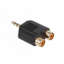 ZLA0299 Złącze JACK 3.5-2xGN.RCA złote