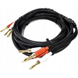 KRUGER&MATZ KM0334 Kabel głośnikowy 3.0m (wtyki banan)