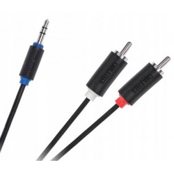 CABLETECH KPO3952-5 Kabel Jack 3.5-2RCA 5m