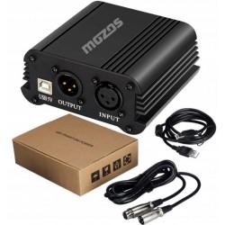MOZOS M48P zasilacz phantom 48V do mikrofonów XLR
