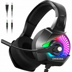 ONIKUMA K6 RGB słuchawki z mikrofonem